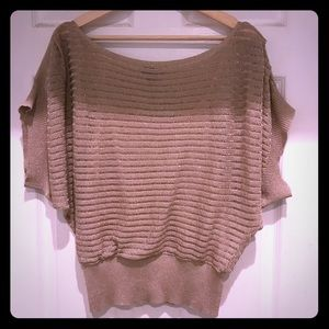 Bebe Woman's Sparkly Gold Top
